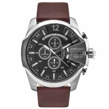 Diesel Authentic Watch DZ4290 Men's Gray Dial Mega Chief Chronograph NEW!