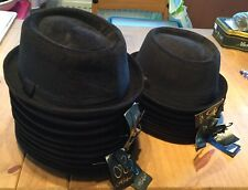 17 X Pork Pie Hats 2 Sizes New With Tags Black Cord Job Lot