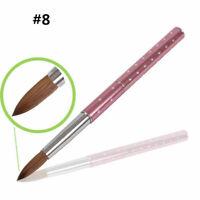 Nail Art Acrylic Brush Metal Handle Kolinsky Hair Painting Pen Macinure Tools 8#