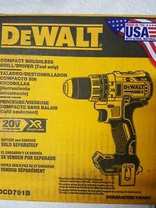 DEWALT DCD791B 20V MAX XR Li-Ion 1/2 in. Compact Drill/Driver (Tool Only) New