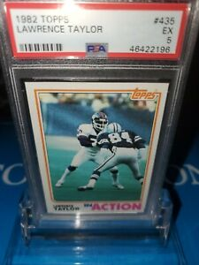 PSA 5 EX~1982 Topps Lawrence Taylor In Action Football Rookie #435,N.YGiants🔥🏈