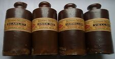 4 ANTIQUE DOULTON MADE  STONE INKS 4 DIAMOND  INK COLOUR LABELS SET