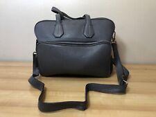 100% Authentic Men's BALLY SWITZERLAND Clutch  Shoulder Bag Leather Gray AAOD