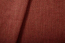 Richard Smith Madeaux Herringbone Tweed Upholstery Fabric Marsham Red Fox 3.65yd
