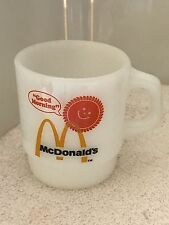 "Vintage FIRE KING Anchor Hocking ""Good Morning"" McDonalds Coffee Cup Mug"