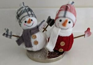 Bath and Body Works~~Set of 2 Snowman Magnet Candle Toppers~~NWT~CUTE