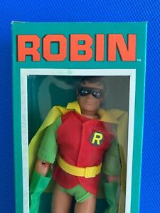 1976  Mego  ROBIN  in HIGH GRADE case fresh BOX !!!!    5 digit  new logo