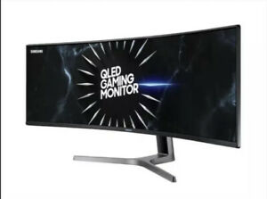 "Samsung C49RG90 49"" QLED Curved Ultra Wide Dual QHD Gaming Monitor - black"