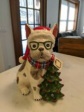 Christmas Frenchie13 inches high 12 inches wide