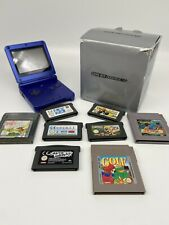Nintendo Game Boy Advance SP Blau Mit OVP + 8 Spiele