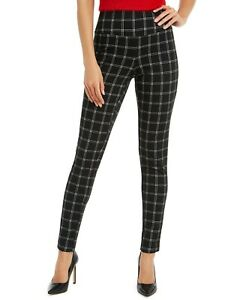 L320 Inc Black Women's Windowpane Plaid Leggings