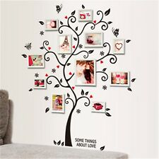 Black Family Tree Wall Decal Sticker Large Vinyl Photo Picture Frame Removable