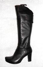 ELLE bottes zippées cuir noir P 39 TBE