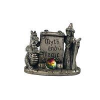 Myth and Magic Tudor Mint Pewter Figurine Magical Encounter Dragon Wizard 3551