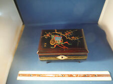 "Vintage Japanese Handpainted ""Romeo & Juliet"" Trinket Music Box"