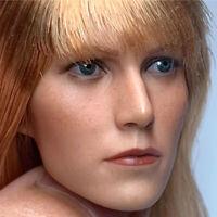 "1/6 Pepper Potts Head Sculpt Model Fit 12"" Female Action Figure Body Model"