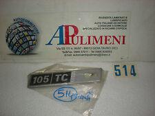 FREGIO-LOGO-SIGLA-SCRITTA (BADGE) LATERALE SX FIAT RITMO 105 TC PLASTICA