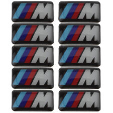 X12 Logo BMW M POWER Sticker 3D Insigne Autocollant 19X11mm Jantes,Volant