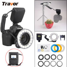 LCD Display Macro Ring Flash Light for Canon Nikon Sony DSLR Camera & Diffusers