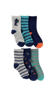 carters boys 6-pack crew socks, size 4-7 yrs, $22, new
