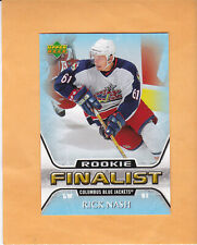 2005 06 UPPER DECK RICK NASH ALL TIME GREATEST ROOKIE #68 COLUMBUS BLUE JACKETS