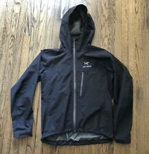 Arc'teryx Mens Alpha SL Black Full Zip Shell Jacket Size Large