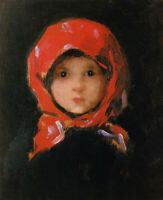 """perfect 24x36 oil painting handpainted on canvas """"a little girl""""@N15867"""