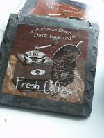 Ardoise (véritable) déco à suspendre thème café (épaisse: 700g.~)