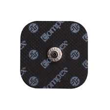 Compex Easy Snap Electrodes - 2in x 2in, 1 Pack (4 Electrodes) - Black