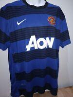 Manchester United 2012-13 Men's Size Third Football Shirt XXL Blue Black