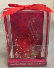 Valentine Glas Figur auf Spiegel schöne Blumen Valentinstag Geschenk