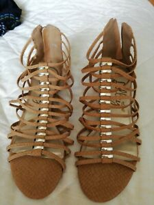 Tan Gladiator Sandals Size 5 New Without Tags