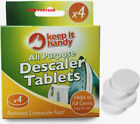 ALL PURPOSE DESCALER TABLETS- LIMESCALE KETTLES IRONS WASHING MACHINE DISHWASHE