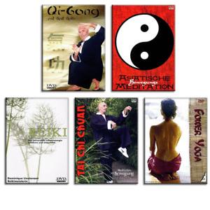 5 Meditation DVD Set - Qi Gong Reiki Tai Chi Chuan Power Yoga Bewegung - Neu