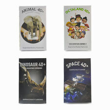 4D+ flashcards bundleset for education : Animal, food, Octaland, Dinosaur, Space