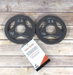 NEW Olympic 2.5lbs Weight Plates Iron Fitness Exercise Workout Home Gym