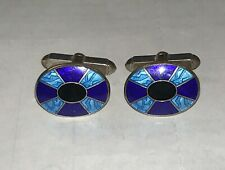 Enamel Sterling Silver Cufflinks From Penholigons