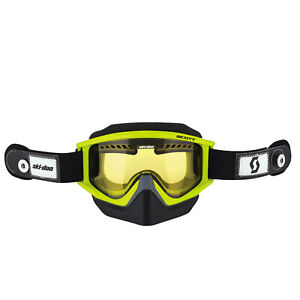 Ski-Doo New OEM Manta Green Holeshot Speed Strap Goggles, 4484930070