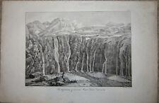 CIRQUE DE GAVARNIE Hautes-Pyrénées. Sehr große Lithographie, COLSTON, 1825