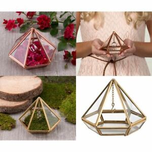 Wedding Ring Box Glass Prism Bearer Pillow Alternatives Ceremony Supplies Decor