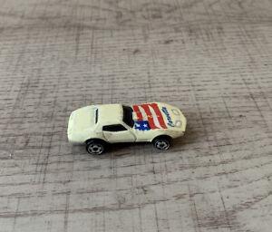 Hot Wheels Micro White Mini Chevrolet Corvette - Malaysia 1975