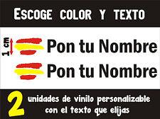PEGATINAS PERSONALIZABLES (2 UNIDADES) - BANDERA DE ESPAÑA - 1 cm. - VINILO