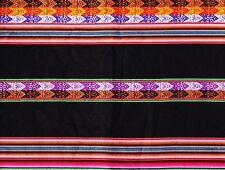 Le Pérou Nappe noir + coloré Andes Indio Incas porte Manta 110x120 cm Aguayo