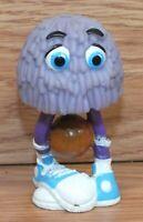 Vintage 1989 Mcdonald's Fry Guys Purple Head w/ Basketball PVC Figurine