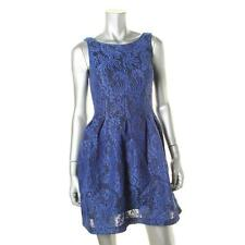 NEW! Mystic Blue Lace Scoop Back Party Cocktail Dress. Size Small. MSRP $108