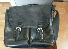 Timberland Vintage Messenger laptop Bag Black leather Several Compartments