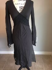 Women's Express Black Long Sleeve  Dress With Lace Detail Size 3/4 NWT