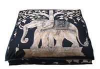 "35"" Large Gold Mandala Elephant Floor Pillow Cushion Cover Dog Bed Covers Indian"