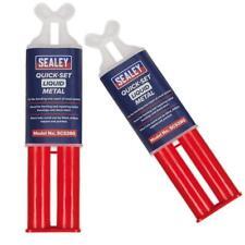 2pk Sealey SCS380 Quick Set Liquid Metal - Chemical Epoxy Metal Repair Syringe