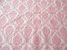 "Chenille Upholstery Fabric Majestic Print Pink  72"" x 60"" Decorating Crafting"